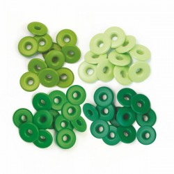 Айлети - We R Memory Keepers - Wide Eyelets - Aluminum Green - Wide - 40бр.