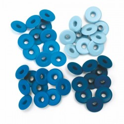Айлети - We R Memory Keepers - Wide Eyelets - Aluminum Blue