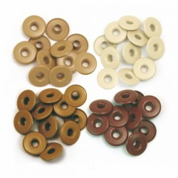 Айлети -  We R Memory Keepers - Wide Eyelets - Aluminum Brown - 40бр.