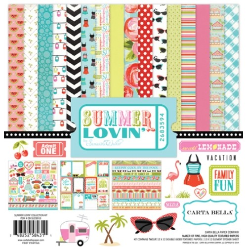 "Дизайнерски комплект - Лято - 12""х12"" - Summer Lovin' Collection Kit CB-SU28016"