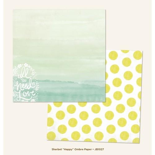 """Двустранен дизайнерски картон - море - Happy """"Ombre"""" Paper (1 Sheet of 12x12 Paper)"""