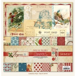 Комплект от 9 дизайнерски листа и 1 лист със стикери - Paper and Accessories Kit