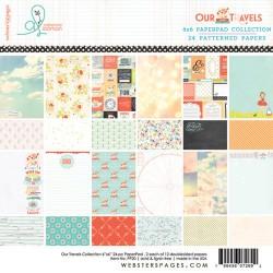 """Дизайнерско блокче 6""""х6"""" - Our Travels 6x6 Paper Pad"""