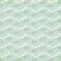 Двустранен дизайнерски картон колелета с балони - Bicycle Bliss Paper Sheet of paper SB62008