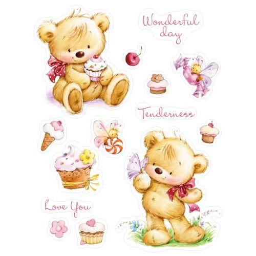 "К-т от печати ""Мои малки мечета - Къпкейк"" - Set of stamps 14*18cm My little Bear with Cupcakes SCB071201b"