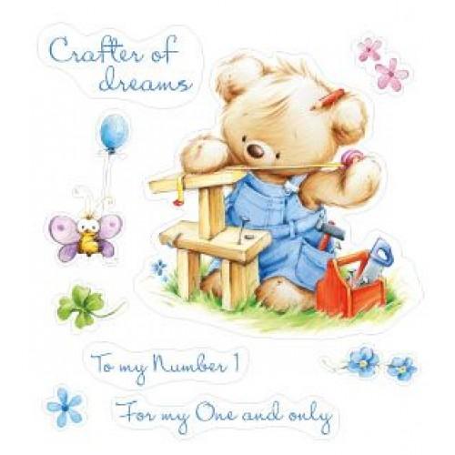 Комплект от печати - Set of stamps 10*11cm My little Bear-Craftsman SCB071207b