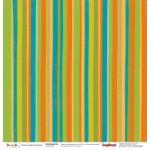 """Двустранен дизайнерски картон 12"""" х 12"""", 180гр. - Double-sided paper 12""""*12"""" 180 g/m, Basik&Ko Nice Day, 1 sheet"""