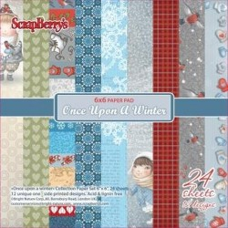 "Дизайнерско блокче 6"" х 6"" - Paper set 6""*6"" 24 sheets 170 gms, Once upon a Winter (24 sheets/set)"