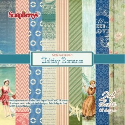 "Дизайнерско блокче - Paper set 6""*6""  Holiday Romance 170 gsm (24 sheets/set)"