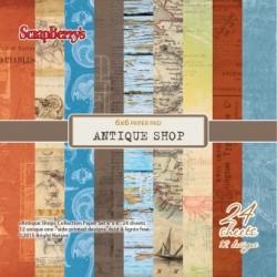 """Дизайнерско блокче 6"""" х 6"""" - Paper set 6""""*6""""  Antique Shop 170 gsm (24 sheets/set)"""