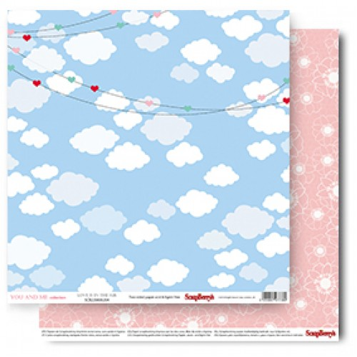 Двустранен дизайнерски лист - 1 бр.- Double-Sided Paper (12*12 – 190gsm) You And Me - Love Is In The Air (Single Sheet)