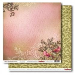 "Двустранен дизайнерски картон 12"" х 12"", 180гр. - Double-Sided Paper (12*12 – 180gsm) Birds of Paradise – Fairy Garden"