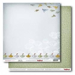 "Двустранен дизайнерски картон - Double-sided paper 12""*12"" 190 gsm Sweetheart Happy times"