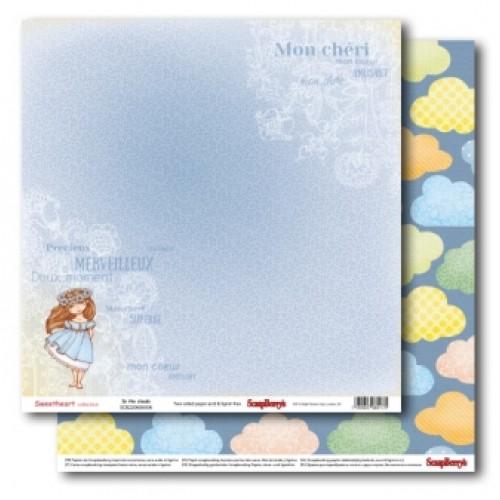 "Двустранен дизайнерски картон - Double-sided paper 12""*12"" 190 gsm Sweetheart In the cloud"