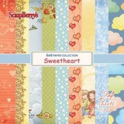 "Дизайнерско блокче 6"" х 6"" - Paper set 6""*6""  Sweetheart  170 gsm (24 sheets/set)"