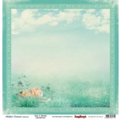 Двустранна дизайнерска хартия - Double-Sided Paper (12*12 – 190gsm) Mother's Treasure – Blue Sky