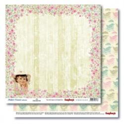 Двустранна дизайнерска хартия - Double-Sided Paper (12*12 – 190gsm) Mother's Treasure - Joy