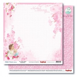 Двустранна дизайнерска хартия - Double-Sided Paper (12*12 – 190gsm) Mother's Treasure -A Perfect Embrace