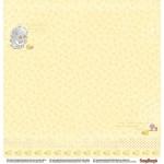 "Двустранен дизайнерски картон - Double-sided paper 12""*12"" Sweet Dreams Wavy Pink 190gsm"