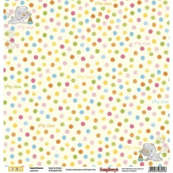 "Двустранен дизайнерски картон - Double-sided paper 12""*12"" Sweet Dreams Spots & Stripes 190gsm"