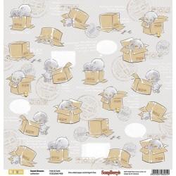 """Едностранен дизайнерски картон - One-sided paper 12""""*12"""" Sweet Dreams Hide & Seek 190gsm"""