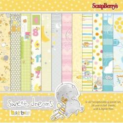 "Дизайнерско блокче 6"" х 6"" - Paper set 6""*6""  Sweet Dreams 170 gsm (24 sheets/set)"