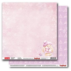 "Двустранен дизайнерски лист - Double-sided paper 12""*12"" 190gsm, Xmas Berries Lilac Shades"