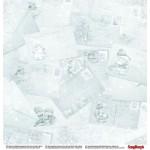 "Двустранна дизайнерска хартия - Double-sided paper 12""*12"" 190gsm, Xmas Berries Seasons Greeting"