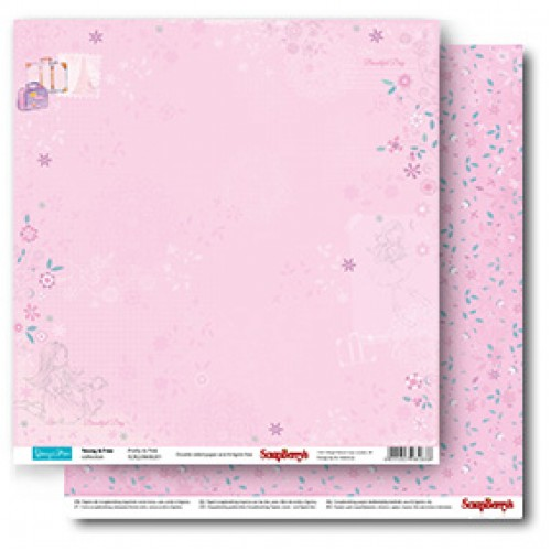 Двустранен дизайнерски лист - 1 бр.- Double-Sided Paper (12*12 – 190gsm) Young And Free Pretty In Pink