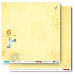 Двустранен дизайнерски лист - 1 бр.- Double-Sided Paper (12*12 – 190gsm) Young And Free Springtime