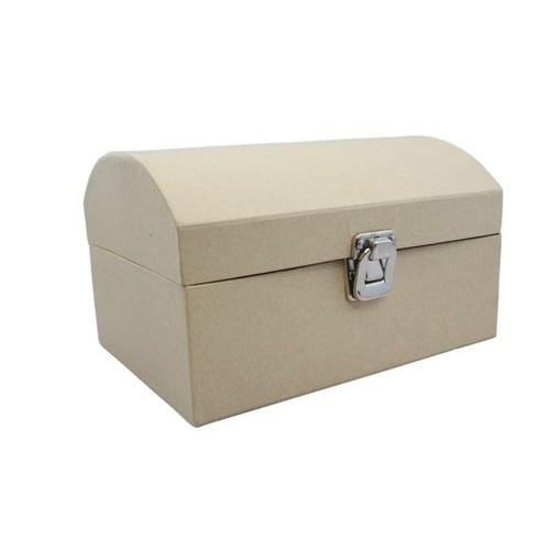 Сандъче с двойно дъно и разделения от папие маше - 21х15х12.5см - Papier-Mache Suitcase (21x15x12.5cm)