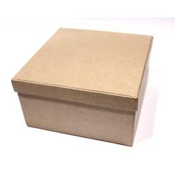Квадратна кутия от папие маше с размери 13х13.7 - Papier-Mache Box Square (13*13*7cm)