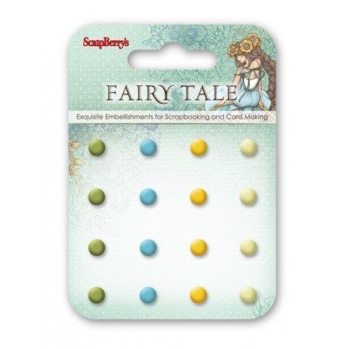 Брадс 16бр. - Enamel brads Fairy Tale 2, 16 pcs