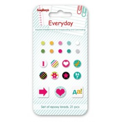 Брадс 21бр. - Set of brads 21 pcs EveryDay 2 Cyrillic script