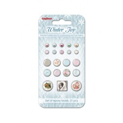 Брадс 21бр. - Brads set Winter Joy, 21pcs