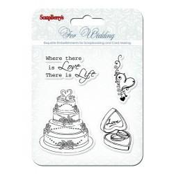 "К-т от печати ""Сватба"" - Set of stamps 10,5*10,5cm Wedding SCB4901011b"
