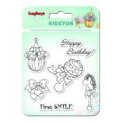 Комплект от печати - Set of stamps 10,5*10,5cm Kids'fun SCB4901012b