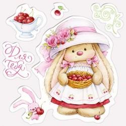 Силиконов печат зайче - Set of stamps 10,5*10,5cm Cherry Bunny, Summer Joy