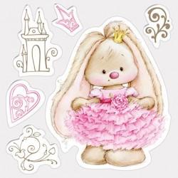 Силиконов печат зайче - Set of stamps 10,5*10,5cm Bunny - Princess, Summer Joy
