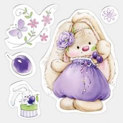 Силиконов печат зайче - Set of stamps 10,5*10,5cm Bunny and plums, Summer Joy
