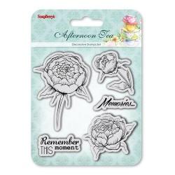 """К-т от печати """"Роза / божур"""" - Set of Clear  Stamps (10,5*10,5cm) Afternoon Tea - Memories"""