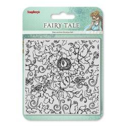 Фонов / текстурен печат - цветя и орнаменти - Set of stamps 10,5*10,5cm Fairy tale. Torsels SCB4904025