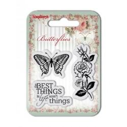 "К-т от печати ""Най-хубавите неща"" - Set of clear stamps (7*7cm) Butterflies – The Best Things"
