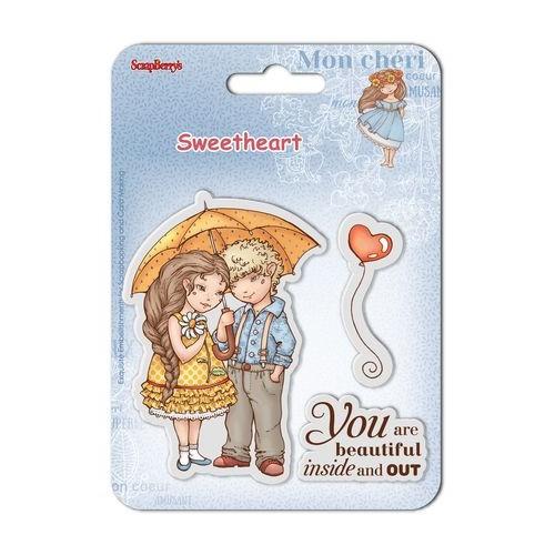 К-т от 2бр. силиконови печати - момиче и момче - Set of clear stamps (10,5*10,5cm) Sweetheart – Beautiful