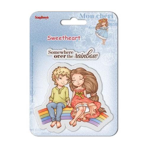 К-т от 2бр. силиконови печати - момиче и момче - Set of clear stamps (10,5*10,5cm) Sweetheart – Over The Rainbow