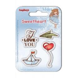 """К-т от детски печати """"Обичам те"""" - Set of clear stamps (7*7cm) Sweetheart – Boats & Balloons"""
