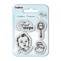 """К-т от бебешки печати """"Първи стъпки"""" - Set of Clear  Stamps (7*7cm) Mother's Treasure – First Steps"""