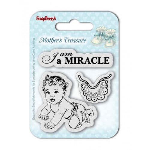 """К-т от бебешки печати """"Аз съм чудо"""" - Set of Clear  Stamps (7*7cm) Mother's Treasure – Miracle"""