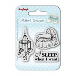 """К-т от бебешки печати """"Спя, когато аз искам"""" - Set of Clear  Stamps (7*7cm) Mother's Treasure – Sleep When I Want"""