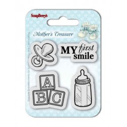 """К-т от бебешки печати """"Първа усмивка"""" - Set of Clear  Stamps (7*7cm) Mother's Treasure – First Smile"""